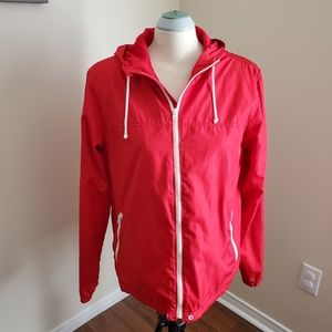 Old Navy Retro Red Light Hoodie Jacket Size M